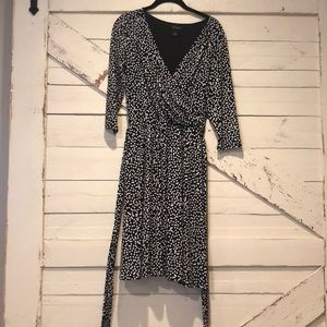 WHBM b/w polka dot dress